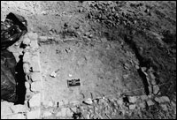 Room 6, Area 1. Note lack of preservation of room's northeast corner. (BW-YJ-JC-005)